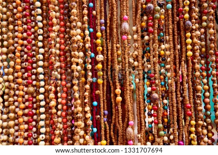 Amazon Rainforest Native Crafts Hand Made Seeds Stock Photo Edit