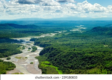 amazon rainforest river forest rain aerial jungle ecuador view above trees america pastaza waterway tub aerial view shot from low altitude total dimension helicopter amazon rainforest river forest rai