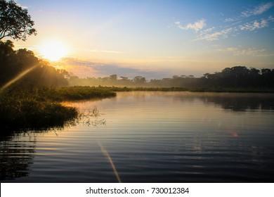 Amazon River in Puerto Maldonado Peru