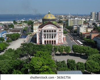 The Amazon Theater Manaus, built in 1896, during the time of the rubber barons
