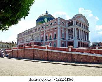 The Amazon Theater (Teatro Amazonas), famous theatre built in 1896, Manaus, Brazil