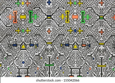 Amazon tipic fabric texture, shipibo, ashninka, conibo, in peru
