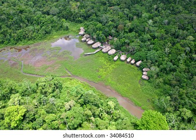 Amazonian Lodge in the rain forest