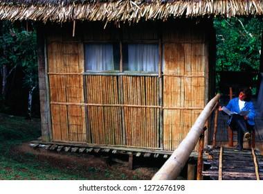 Amazonian Rainforest, La Selva Lodge, Ecuador, Jungle lodge hut, October 14, 1998