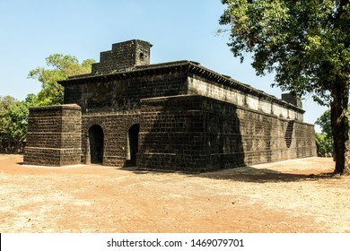 AMBARKHANA (STORAGE) In side Panhalgad Fort this was built by King Bhoj in 11th century. The thickness of its walls 15 feet, huge amount of food-grains could be stored here. Kolhapur Maharashtra India