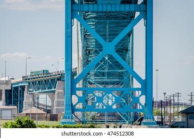 Ambassador Bridge between U.S. and Canada