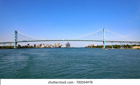 The Ambassador Bridge is a suspension bridge that connects Detroit, Michigan, United States, with Windsor, Ontario, Canada.