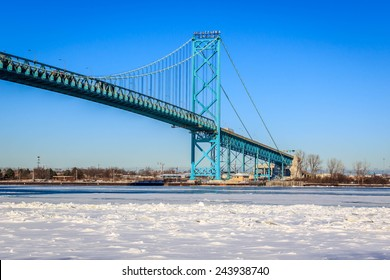 Ambassador Bridge, Windsor,Ontario, Detroit, Michigan