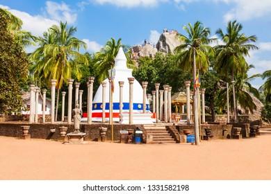 Ambasthala Dagaba or Sela Cetiya at the Mihintale ancient city near Anuradhapura, Sri Lanka