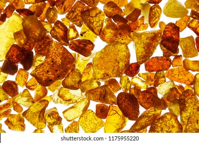 Amber abstract background made of small pieces