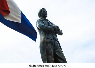 Amber Cove/Dominican Republic - April 2017: Juan Pablo Duarte 1813-1876 Plaza - Dominican Republic Founding Father