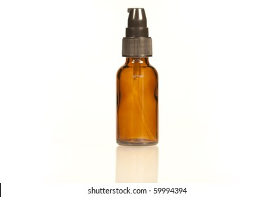 Amber Glass Bottle with pump lid