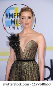 Amber Heard at the 2018 American Music Awards held at the Microsoft Theater in Los Angeles, USA on October 9, 2018.