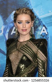 Amber Heard at the Los Angeles premiere of 'Aquaman' held at the TCL Chinese Theatre in Hollywood, USA on December 12, 2018.