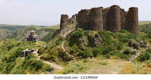 Amberd fortress and Vahramashen Church in Armenia