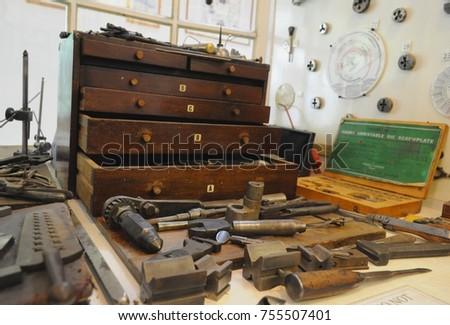 Amberley UK 100817 Engineering Tools Tools Stock Photo (Edit