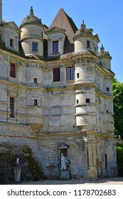 Ambleville, France - june 27 2018 : the renaissance castle