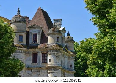 Ambleville, France - june 27 2018 : the renaissance castle