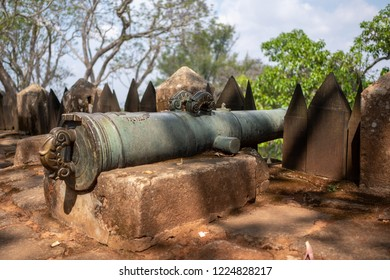 Ambohimanga, Royal Hill near by Antananarivo (Tana), Madagascar. The cannon guards the walls
