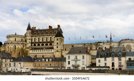 AMBOIS, FRANCE - JULY, 31, 2017: Castle of Amboise, the Indre-et-Loire departement, Loire Valley, France