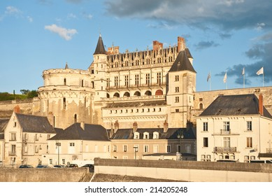 Amboise Castle in the evening, France. A UNESCO World Heritage Site.