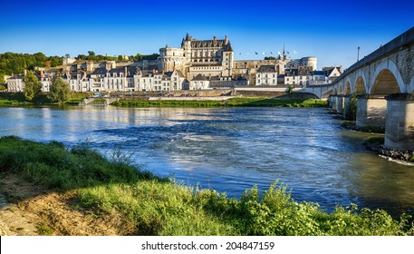 Amboise Chateau. The Loire Valley. France.