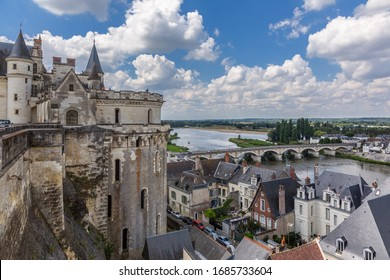 AMBOISE, FRANCE - AUGUST 01, 2014: Beautiful medieval royal castle in Chateau d'Amboise. UNESCO World Heritage Site.