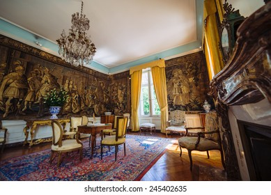 AMBOISE, FRANCE - MAY 4, 2014: Clos Luce is a Leonardo da Vinci museum in Amboise, France. It is the official residence of Leonardo da Vinci for the last three years of his life
