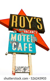 Amboy, U.S.A. - Oct 27 2015: California,the Roy's motel and cafe on the Route 66