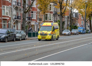 Ambulance At Amsterdam The Netherlands 2018