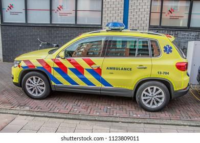 Ambulance Car At Amsterdam The Netherlands 2018