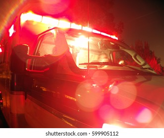 Ambulance with Lights on