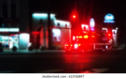 Ambulance Medical Attention on the street at night