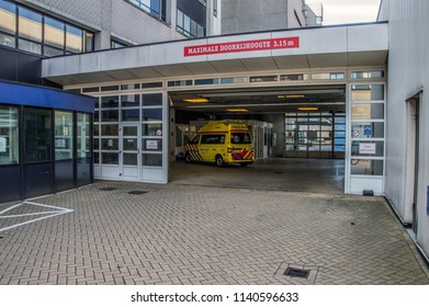 Ambulance Parking Space At The OLVG Hospital At Amsterdam The Netherlands 2018