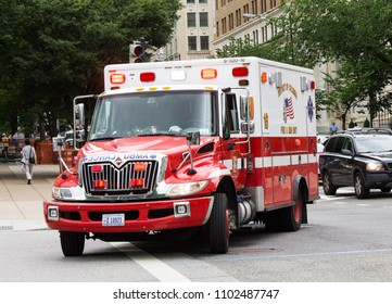 An Ambulance in Washington DC taken May 30 2018