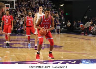 Ameer Bennett for forward for the Delaware State University Hornets at GCU Arena in Phoenix, Arizona/USA November 12,2018.