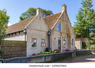 Ameland / Netherlands - 08-19-2017: One of the beautiful old cottages (built in 1771) on the island of Ameland