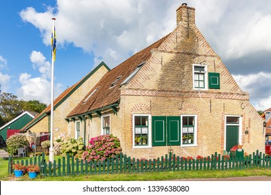 Ameland / Netherlands - 08-19-2017: One of the beautiful old cottages (built in 1516) on the island of Ameland