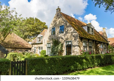 Ameland / Netherlands - 08-19-2017: One of the beautiful old cottages (built in 1797) on the island of Ameland