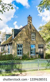 Ameland / Netherlands - 08-19-2017: One of the beautiful old cottages (built in 1864) on the island of Ameland