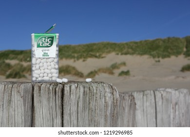 Ameland, The Netherlands - 1 November, 2018.: Tic Tac Candy is popular due its minty fresh taste and the new mini pack is easy to carry.