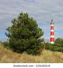 Ameland - red and white lighthouse