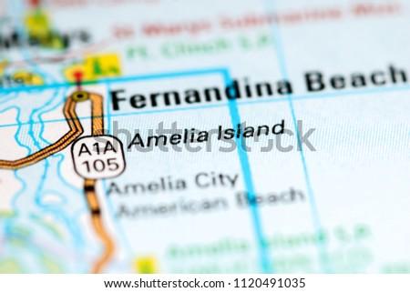 Amelia Island Florida USA On Map Stock Photo (Edit Now) 1120491035 ...