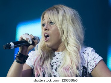 Amelia Lily performing at The Girl Guiding BIG GIG 2012, Sheffield Arena, Yorkshire. 06/10/2012 Picture by: Simon Burchell