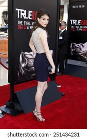 """Amelia Rose-Blair at the Premiere Of HBO's """"True Blood"""" Season 7 And Final Season held at the TCL Chinese Theatre in Los Angeles on June 17, 2014 in Los Angeles, California."""
