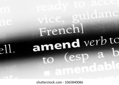 amend word in a dictionary. amend concept.
