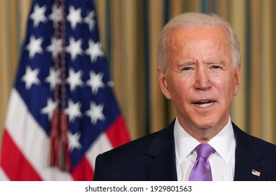 America , 20 Feb 2021:American president Joe Biden has shown in this picture ( Selectively focused )(blur)