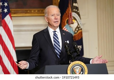 America ,7 Jan 2021:This picture shown American president while speech