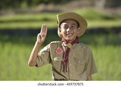 america boy Scouts hiking .