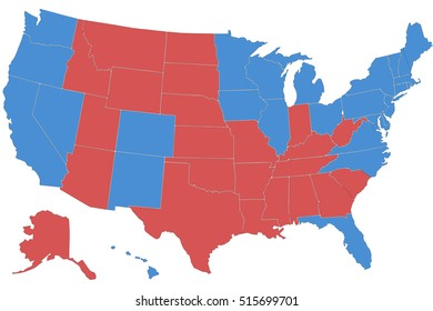 America election vote. America flag in U.S.A map. The United States of America (USA), commonly referred to as the United States (U.S.) or America, is a federal republic composed of 50 states.